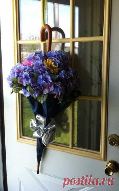 Цветочные композиции из зонтика