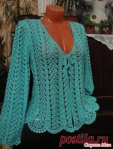 . One more creation of Marina Morozova. - All in openwork... (knitting by a hook) - the Country of Mothers