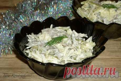 Салат из свиного сердца с маринованным луком - 10 пошаговых фото в рецепте Хочу предложить рецепт сытного, вкусного салата из свиного сердца с маринованным луком. Приготовить его очень просто, это блюдо прекрасно подходит для праздничного стола. Приготовьте такой салат и порадуйте своих близких.  Ингредиенты