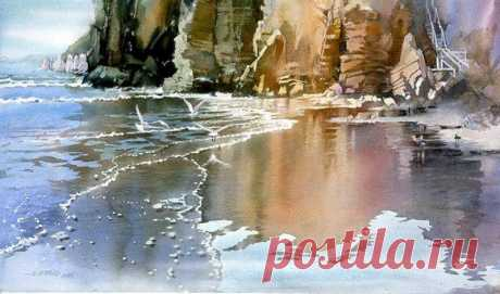 Nita Engle: акварель, пейзаж.