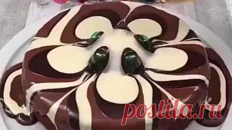 Красивое оформление торта