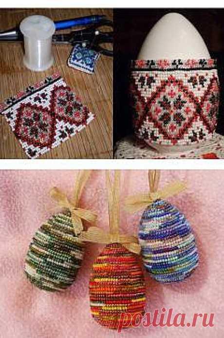 Easter eggs beads.