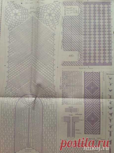 Тайское филейное платье крючком » Ниткой - вязаные вещи для вашего дома, вязание крючком, вязание спицами, схемы вязания