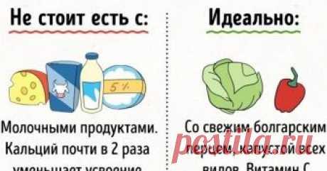 20+продуктов, которые нестоит употреблять вместе Полезные микроэлементы ивитамины веде невсегда дружат идаже могут блокировать усвоение друг друга (апорой, наоборот, усиливать). Чтобы свести кминимуму нежелательные сочетания, нестоит налегать насложные имногосоставные блюда, аввести, кпримеру, правило несмешивать при каждом приеме пищи больше 5–7продуктов. МывAdMe.ru собрали наиболее важные рекомендации ученых отом, что счем стоит инестоит сочетать. Зд...