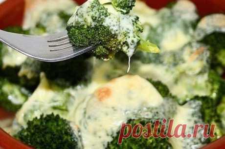 Легкий ужин: брокколи с моцареллой запеченные в духовке - Советы на каждый день