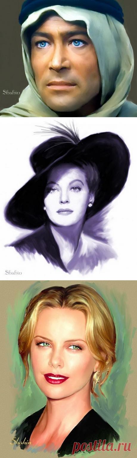 Портреты знаменитостей от Shahin   Cовременное искусство   contemporary art