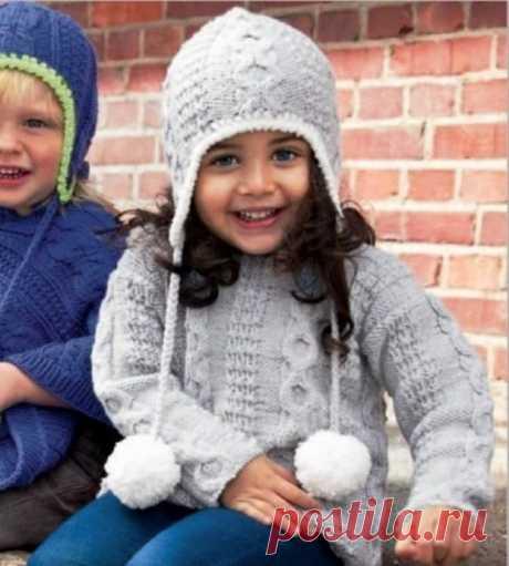 Вяжем комплект для детей из пуловера и шапочки из категории Интересные идеи – Вязаные идеи, идеи для вязания