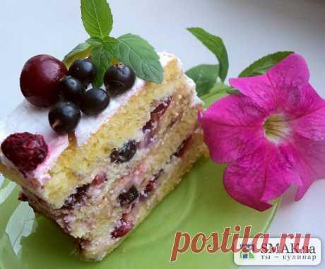 Торт фруктовый. Автор: Людмила Головченко