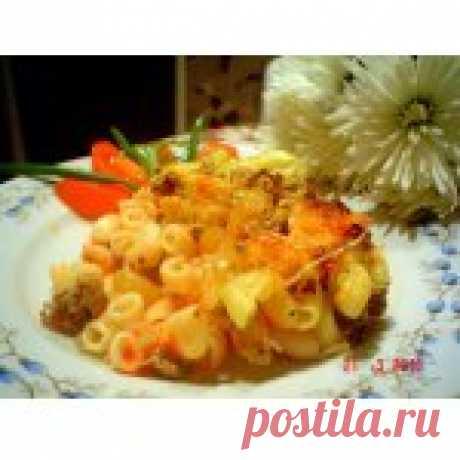 Запеканка  макаронная Кьери Кулинарный рецепт