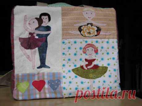 Deshilachado: Tutorial: Bolsa de ballet de patchwork / Patchwork ballet bag