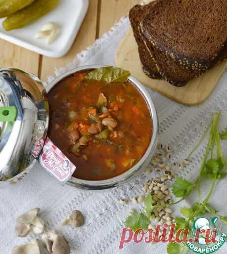 Постный рассольник с фасолью и грибами Кулинарный рецепт