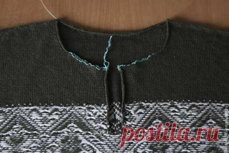 Как вшить молнию в свитер с воротником-стойкой - Ярмарка Мастеров - ручная работа, handmade