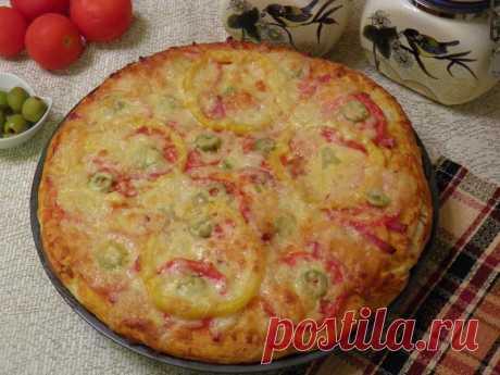 Американская пицца на толстом тесте рецепт с фото пошагово