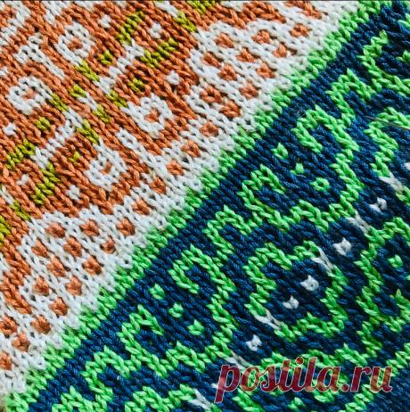 Ленивый жаккард. Приёмы художественного вязания. Замена цвета | Mария Mоскалева | Яндекс Дзен