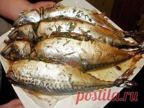 .: Запекание рыбы в фольге.( скумбрия)