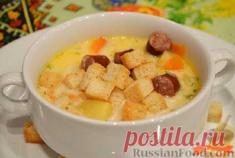 Recipe: Cheese soup with smoked sausages on RussianFood.com