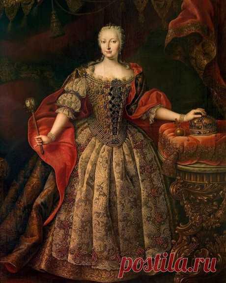 Daniel Schmidely (1705-1779)🕊 Maria Theresia in Hungarian Coronationdress (1717-1780)🌹 1742🌿