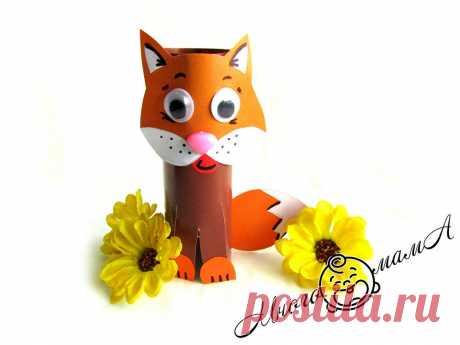 Кошка из цветной бумаги: красивая поделка, для которой требуется минимум материалов | Многомама | Яндекс Дзен