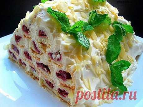 "Кулинарные рецепты: Торт ""ЗИМНЯЯ ВИШНЯ"""