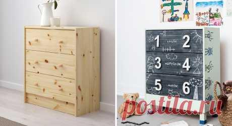 17+ способов переделать недорогой комод из IKEA