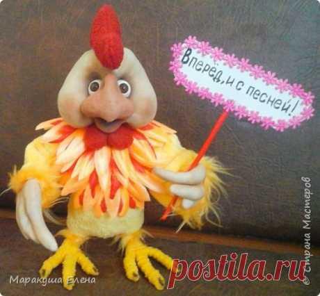 "Кукла из капрона ""Огненный петушок"""