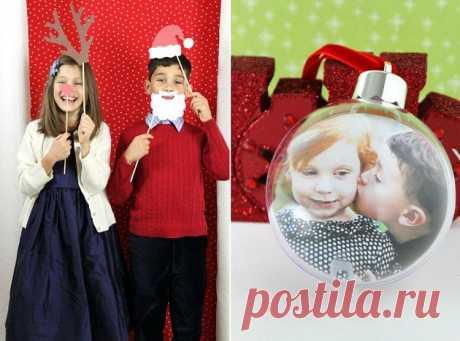 Как создать свою собственную фотографию Рождественские открытки - Праздники дома
