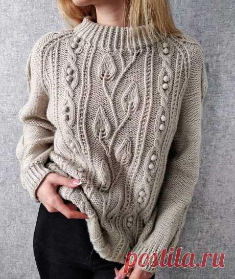 Изящные и красивые свитера спицами. Подборка.   MuMof2   Яндекс Дзен