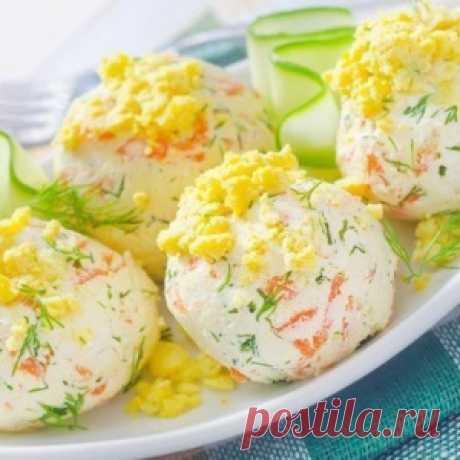 Сырно-крабовые шарики — Оригинальная новогодняя подача крабового салата, придется по вкусу всем гостям