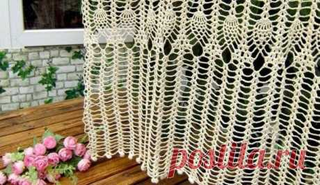 Вязание штор крючком