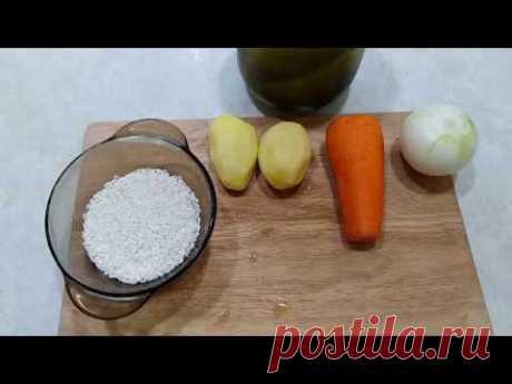 Готовим рассольник с рисом. - YouTube