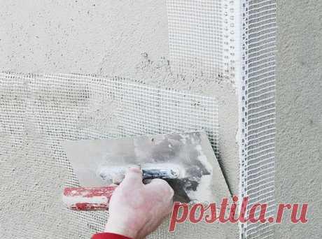 Как быстро наклеить штукатурную сетку на всю стену