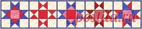 Традиционный блок пэчворка «Звезда Огайо (Ohio Star)»