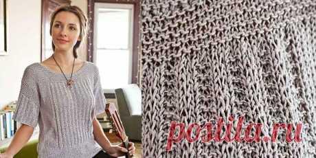 Джемпер Pern резинкой со снятыми петлями - Вяжи.ру