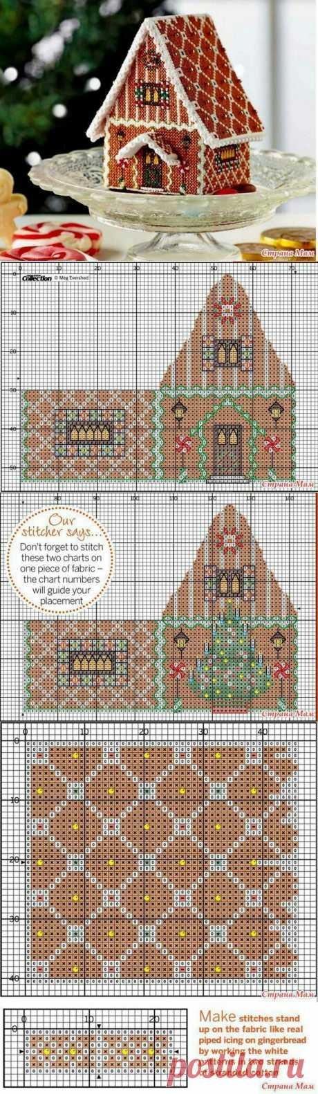 Схема вышивки пряничного домика Модная одежда и дизайн интерьера своими руками