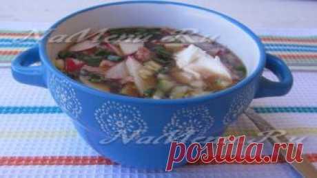 Окрошка на квасе с колбасой, классический рецепт приготовления с фото