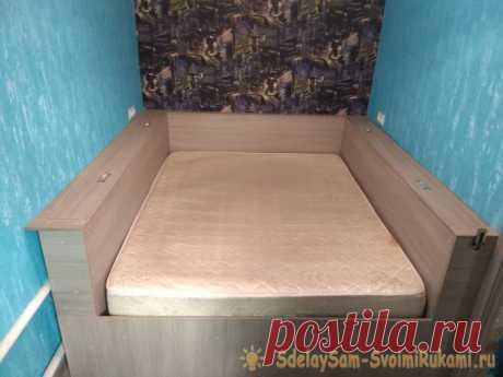 Самодельная двуспальная кровать | Наши дома