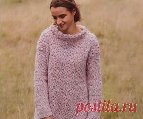 Пуловер крючком | Вязание крючком с Ириной Булановой | Яндекс Дзен