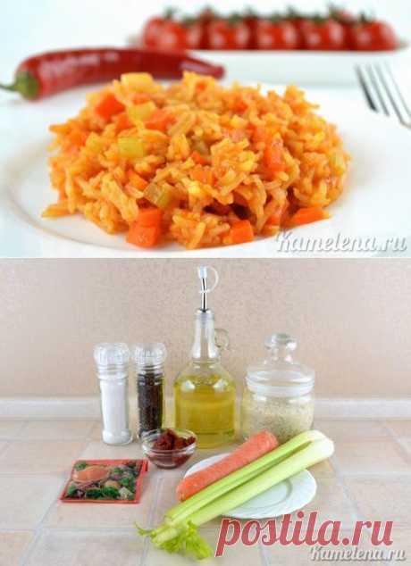 Рис с морковью и сельдереем.
