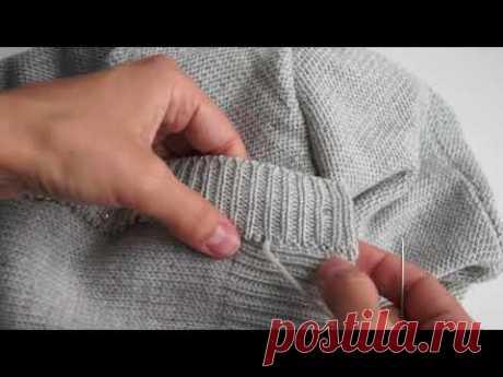 Сборка вязаного изделия. Подборка видеуроков