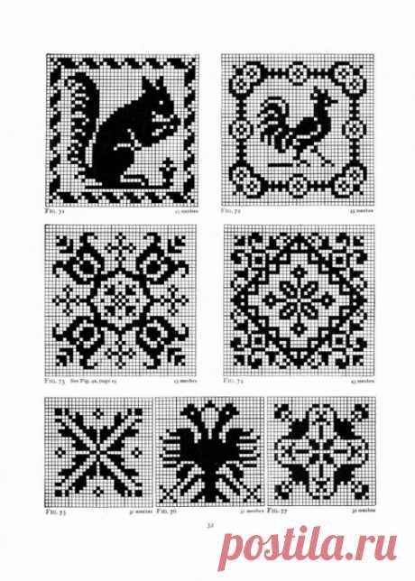Необычные схемы филейного вязания из категории Интересные идеи – Вязаные идеи, идеи для вязания