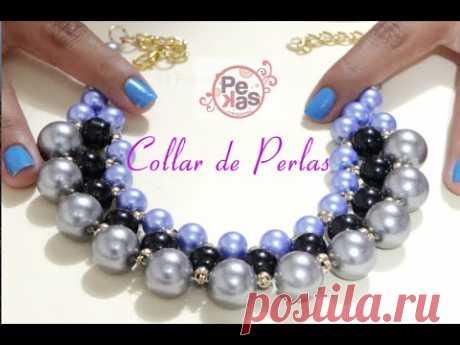 dde9c3d74663 Como hacer un Collar Elegante con Perlas  Pekas Creaciones