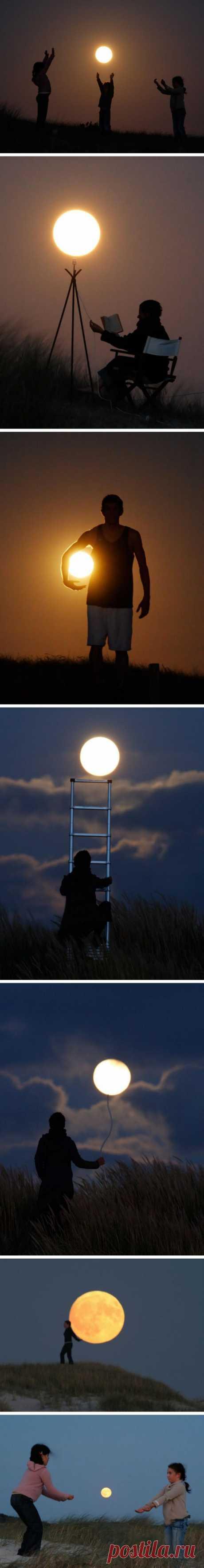 Поиграть с луной (или луной) - что может быть лучше?