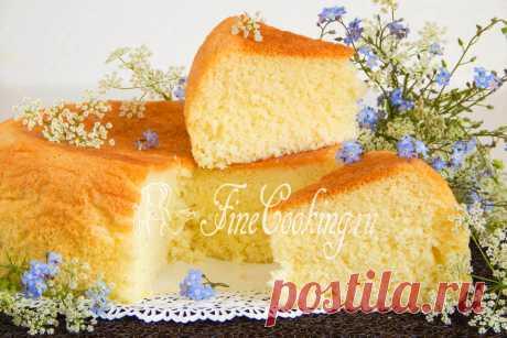 Манный бисквит - рецепт с фото