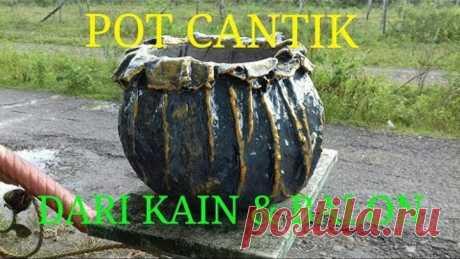 CARA MEMBUAT POT DENGAN BALON // how to make pot with ballon