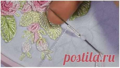 Мастер класс по бразильской вышивке. Вышиваем розу.
