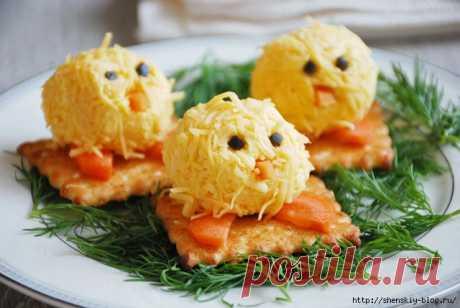 Закуска к Пасхе: Сырные цыплята