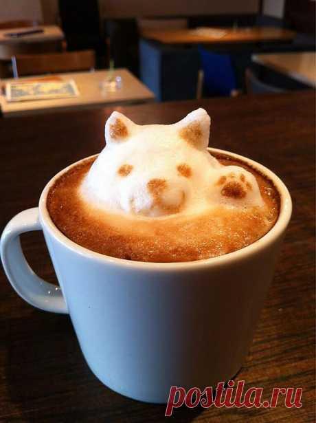 Потрясающий кофейный арт