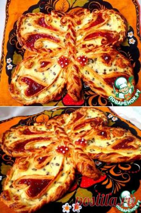"Ватрушка ""Бабочка"" - кулинарный рецепт"