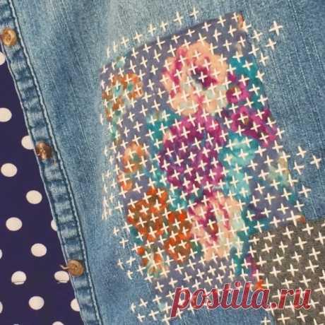 Вместо джинсовой заплатки Модная одежда и дизайн интерьера своими руками
