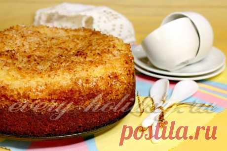Кокосовый пирог на кефире: фото рецепт